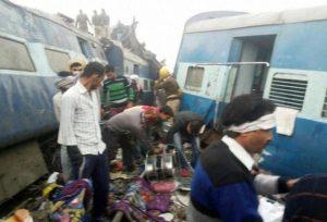 कानपुर रेल हादसे में 100 से अधिक की मौत