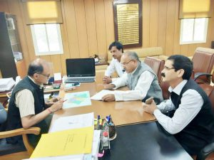 page3news-Delegation of Jan Sanghsh Morcha to meet the Chief Secretary.
