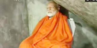 page3news-pm modi meditating at kedarnath caves