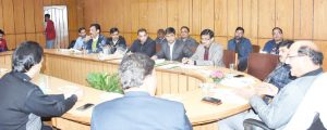 page3news-Agriculture Minister Subodh Uniyal taking the meeting