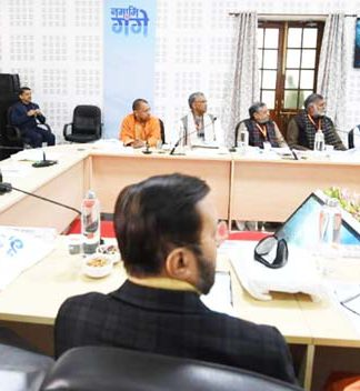 page3news-CM Trivendra Singh Rawat present at the meeting of the National Ganga Council