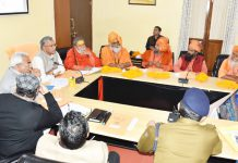 page3news-Taking a meeting of CM officers and saints regarding the preparations for Haridwar Maha Kumbh